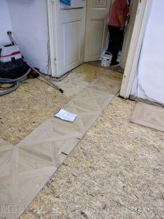 Oprava podlahy v muzeu