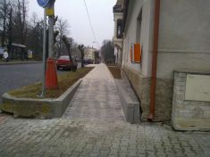 Oprava chodníků v ulici Dražická 2014-2015