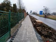Rekonstrukce chodníku v ulici Bratří Bendů levá strana