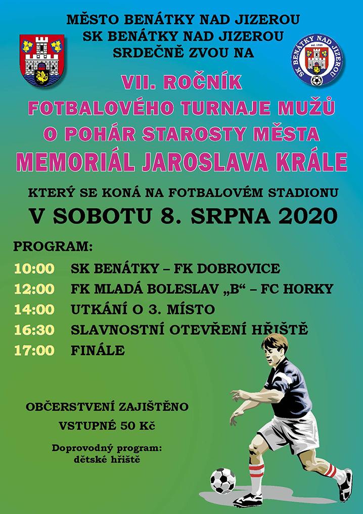 7. ročník fotbalového turnaje o pohár starosty města memoriál Jaroslava Krále