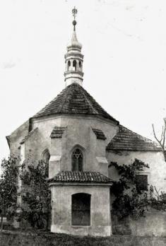Východní část kostelíka sv.Martina roku 1928