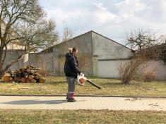 ulice Dražická - úklidové práce