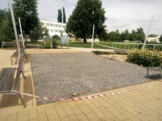 Rekonstrukce terasového záklopu sezení dětského hřiště v City parku