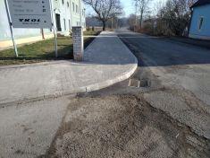 VO Dražice a oprava chodníku
