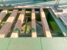 Oprava dřevěného povrchu železničního mostu